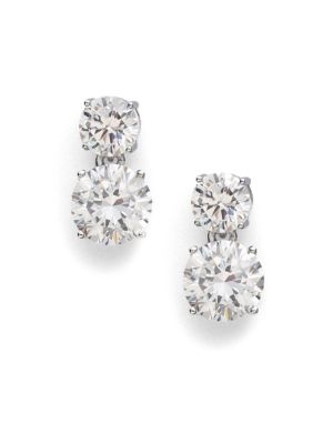 Double Stud Drop Earrings by Adriana Orsini
