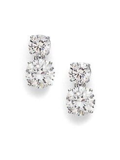 Adriana Orsini - Double Stud Drop Earrings