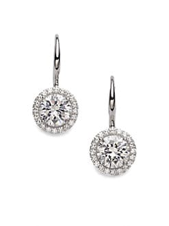 Adriana Orsini - Sterling Silver Round Drop Earrings