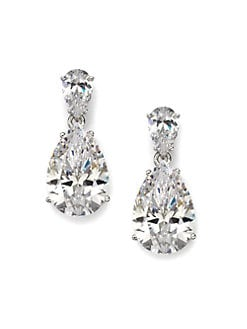 Adriana Orsini - Sterling Silver Pear Drop Earrings