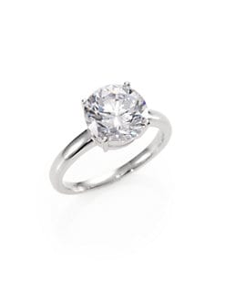 Adriana Orsini - Sterling Silver Solitaire Ring