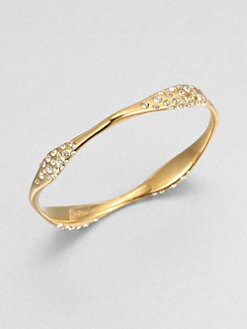 Adriana Orsini - Pave Crystal Burnished Bangle