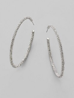 Adriana Orsini - Pave Hoop Earrings/2&#188&#34
