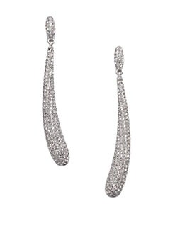 Adriana Orsini - Pavé Crystal Curved Drop Earrings