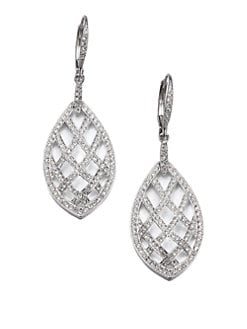 Adriana Orsini - Pavé Crystal Basket-Weave Drop Earrings