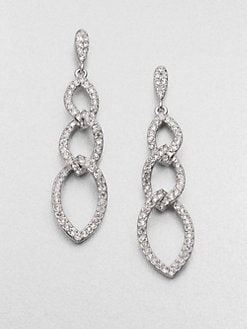 Adriana Orsini - Pavé Crystal Triple Link Drop Earrings