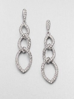 Adriana Orsini - Pav&eacute; Crystal Triple Link Drop Earrings