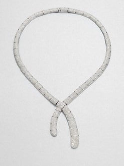 Adriana Orsini - Pavé Crystal Untied Collar Necklace