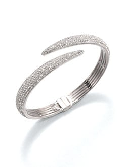 Adriana Orsini - Pavé Crystal Tail Bangle Bracelet