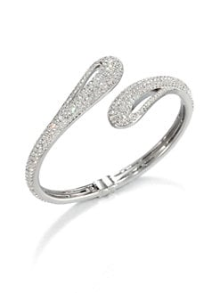 Adriana Orsini - Pav&eacute; Crystal Open Teardop Bangle Bracelet