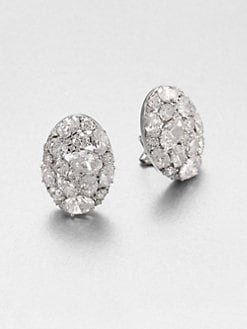 Adriana Orsini - Faceted Oval Cluster Button Earrings