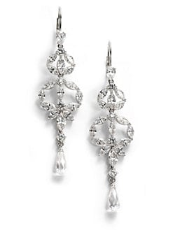 Adriana Orsini - Faceted Linear Chandelier Earrings