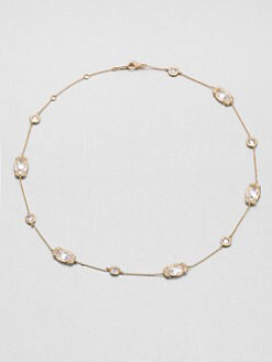 Adriana Orsini - Crystal Bezel Necklace