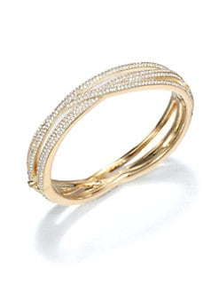Adriana Orsini - Pavé Crystal Intertwined Bangle Bracelet/Goldtone