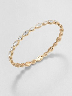 Adriana Orsini - Faceted Marquis Bangle Bracelet