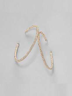 Adriana Orsini - Pave Hoop Earrings/2.25