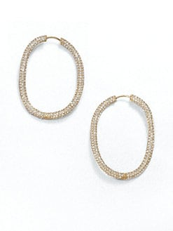 Adriana Orsini - Sparkle Oval Hoop Earrings