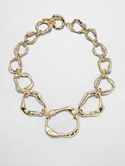 Adriana Orsini - Sculptural Crystal Link Necklace