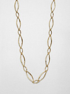 Adriana Orsini - Long Hammered Link Necklace