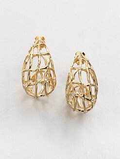 Adriana Orsini - Caged Crystal Drop Earrings