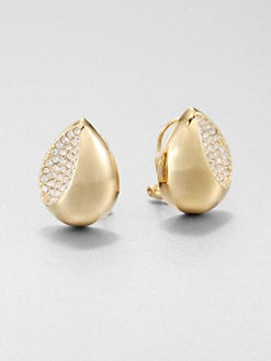 Adriana Orsini - Concave Pave Button Earrings