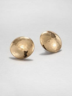 Adriana Orsini - Hammered Button Earrings