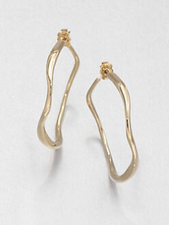 Adriana Orsini - Wave Hoop Earrings