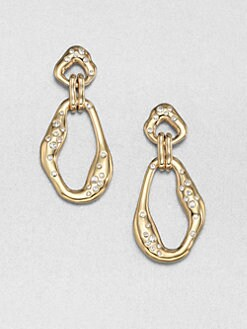 Adriana Orsini - Crystal Link Drop Earrings