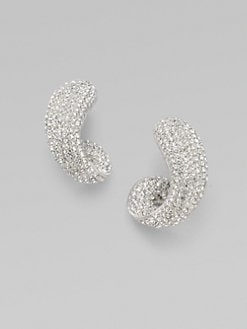 Adriana Orsini - Pavé J-Shaped Earrings