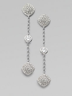 Adriana Orsini - Stone Accented Station Drop Earrings