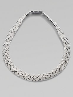 Adriana Orsini - Pav&eacute; Snakeskin-Inspired Collar Necklace