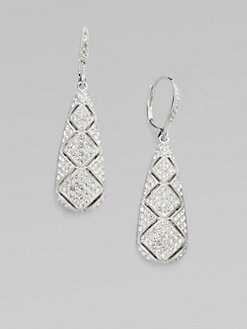 Adriana Orsini - Pavé Snakeskin-Inspired Drop Earrings