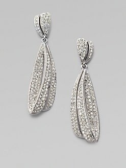 Adriana Orsini - Stone Accented Crested Waves Drop Earrings