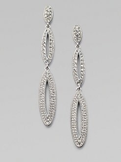 Adriana Orsini - Elongated Open Oval Drop Earrings