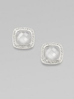 Adriana Orsini - Stone Accented Doublet Button Earrings