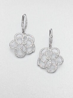 Adriana Orsini - Pavé Crystal Floral Drop Earrings