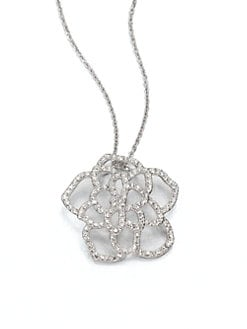Adriana Orsini - Sparkle Open Flower Pendant Necklace