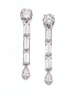 Adriana Orsini - Faceted Linear Drop Earrings