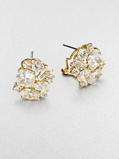 Adriana Orsini - Faceted Cluster Earrings/Goldtone