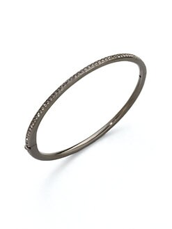 Adriana Orsini - Crystal Inlay Bangle Bracelet