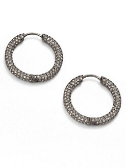 Adriana Orsini - Sparkle Hoop Earrings/1.5