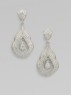 Adriana Orsini - Pavé Crystal Accented Double Drop Earrings