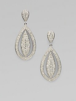 Adriana Orsini - Pavé Crystal Accented Cateye Drop Earrings