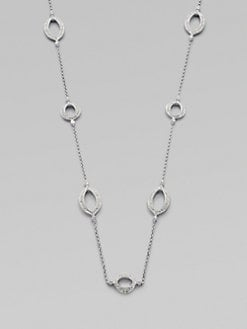 Adriana Orsini - Pave Crystal Accented Pointed Oval Station Necklace
