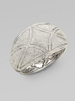 Adriana Orsini - Crystal Encrusted Deco Bangle Bracelet