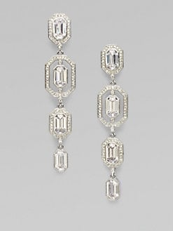 Adriana Orsini - Stone Accented Graduated Drop Earrings