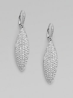 Adriana Orsini - Crystal Pav&#233 Leaf Earrings