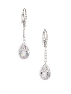Adriana Orsini - Faceted Drop Earrings/Clear