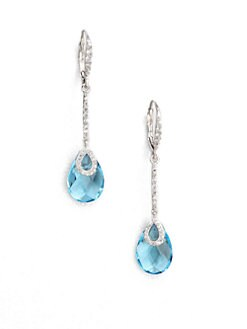 Adriana Orsini - Faceted Drop Earrings/Aqua