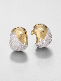 Adriana Orsini - Pavé J-Hoop Earrings